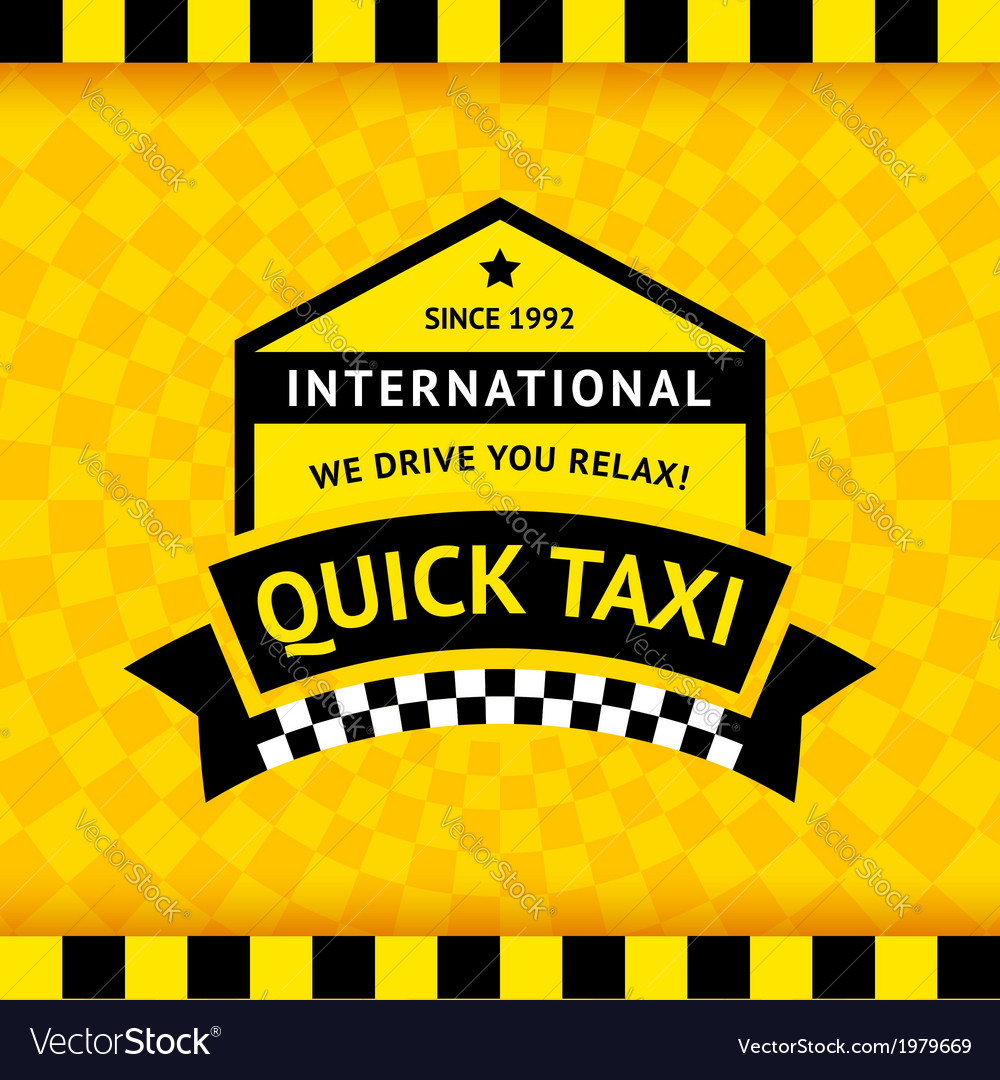 Taxi symbol with checkered background - 12 vector | Price: 1 Credit (USD $1)