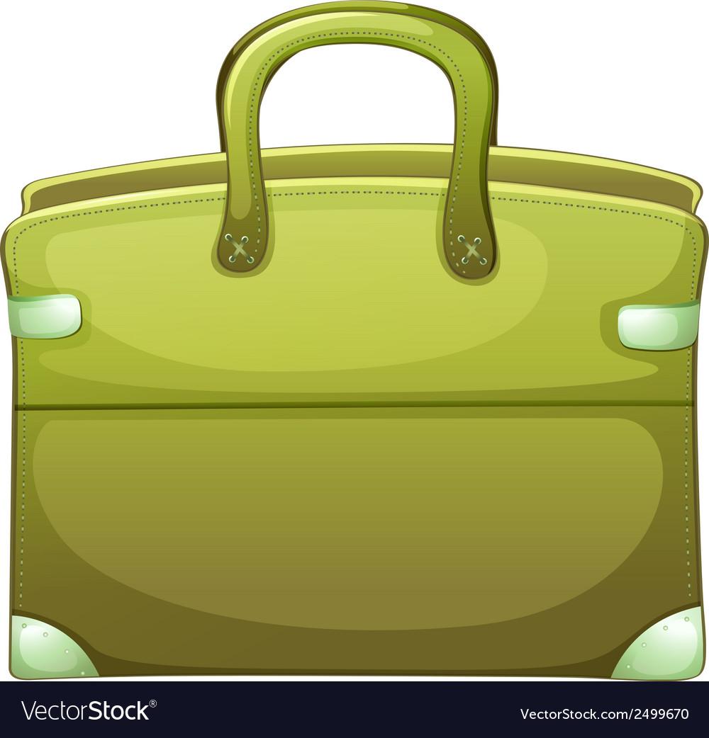 A green handbag vector | Price: 1 Credit (USD $1)