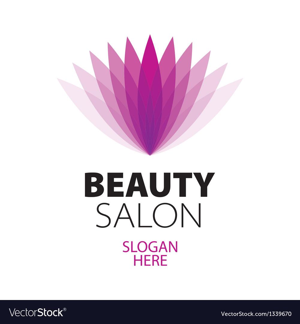 Abstract logo beauty salon vector