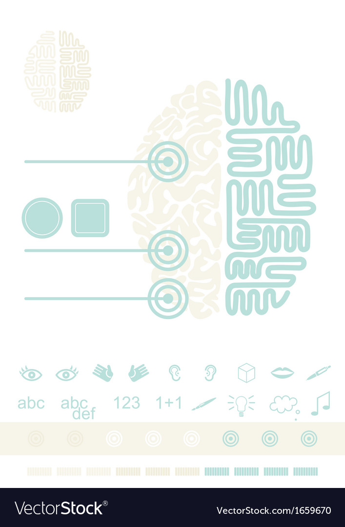 Brain graphic elements vector | Price: 1 Credit (USD $1)