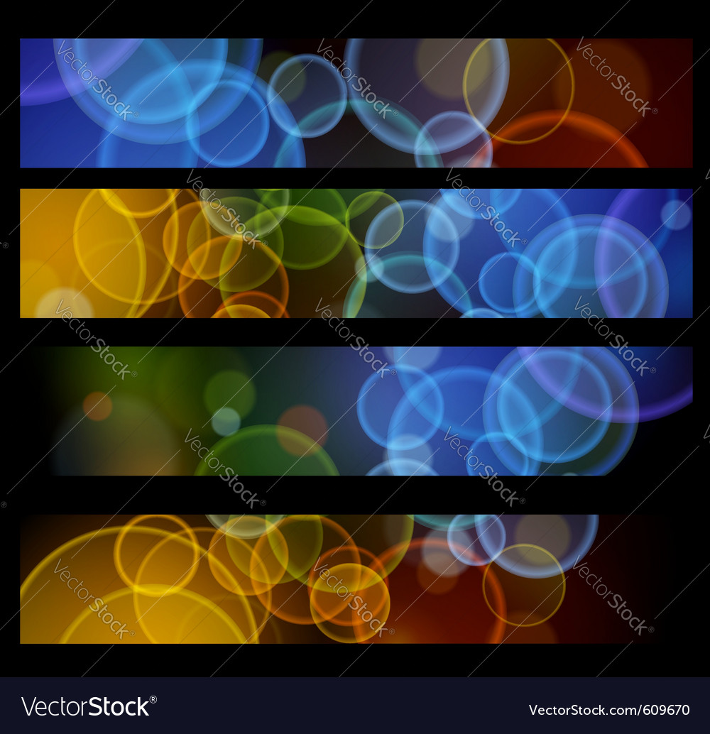 Collection of headers for web vector | Price: 1 Credit (USD $1)