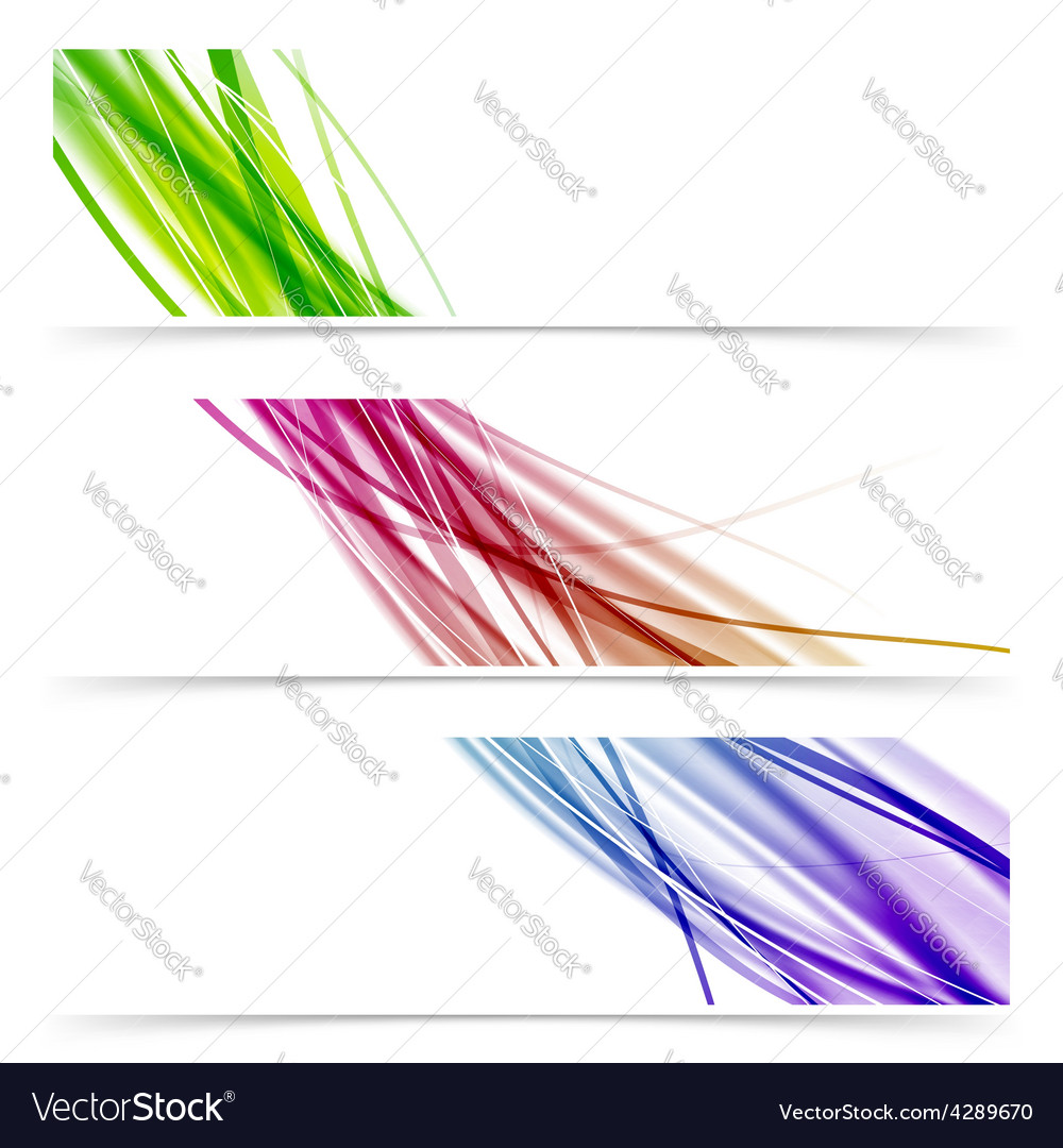 Colorful swoosh speed wave line banner collection vector | Price: 1 Credit (USD $1)