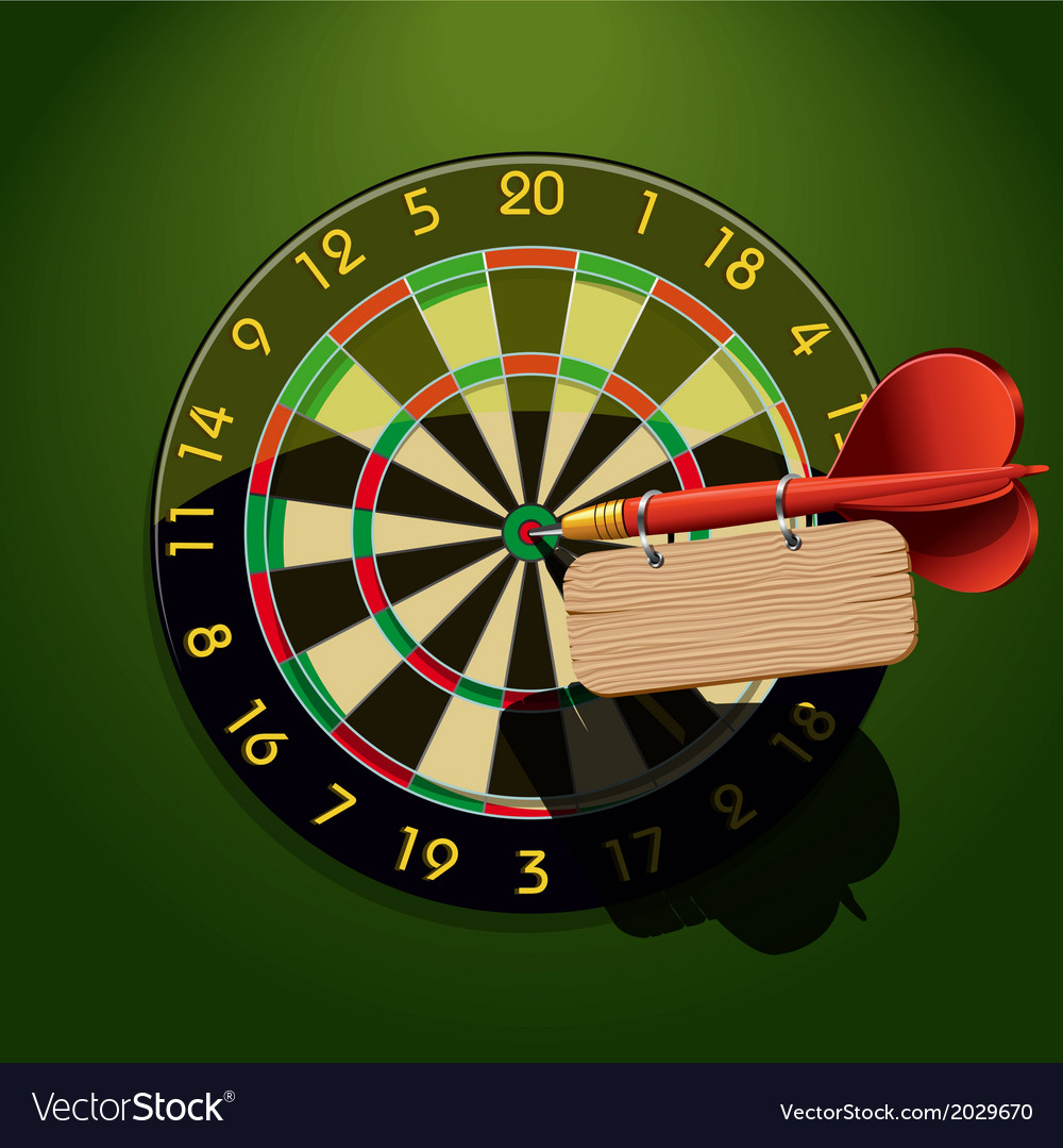 Dartboard with dart and blank table vector | Price: 1 Credit (USD $1)