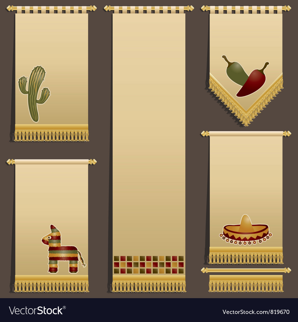Mexican wall hangings vector | Price: 1 Credit (USD $1)