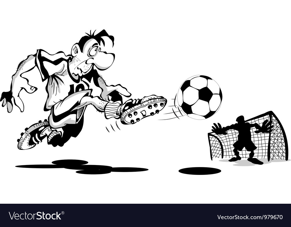 Player scores a goal vector | Price: 1 Credit (USD $1)