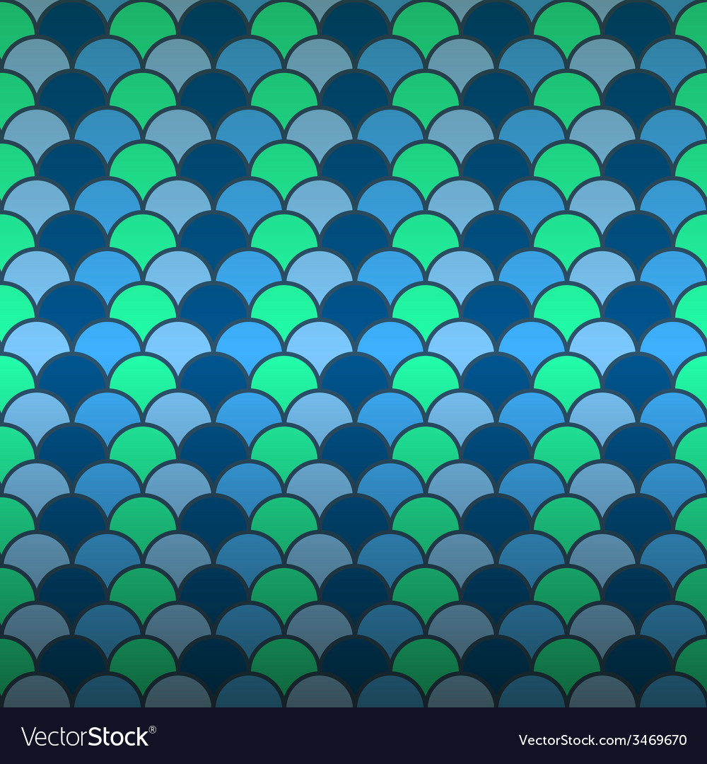 Seamless fish scale pattern background vector | Price: 1 Credit (USD $1)