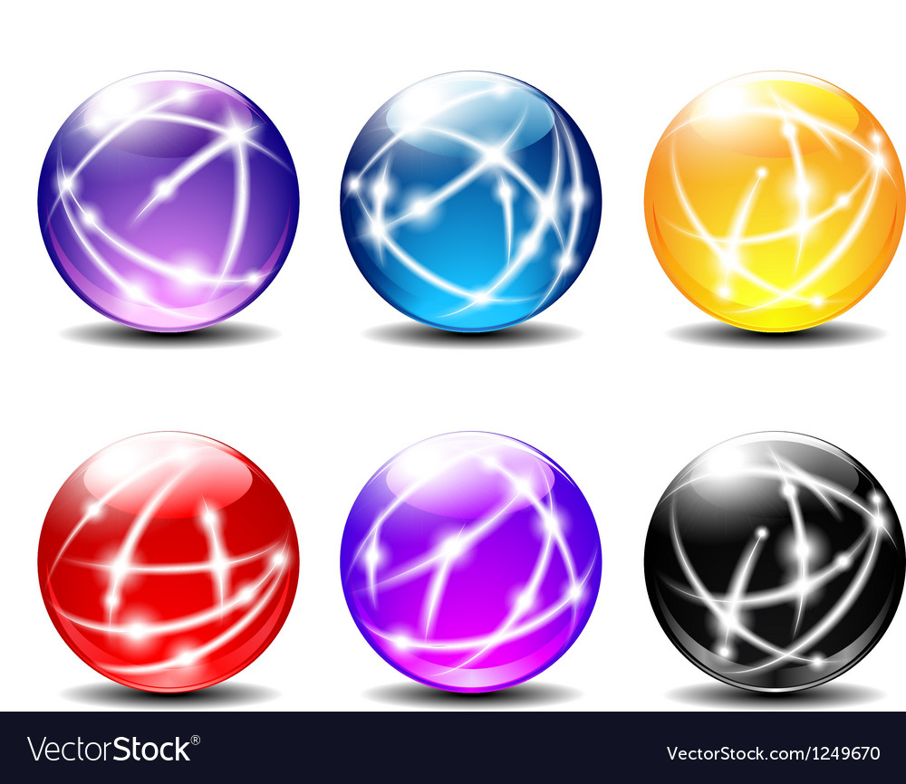 Six spheres balls with communication vector | Price: 1 Credit (USD $1)
