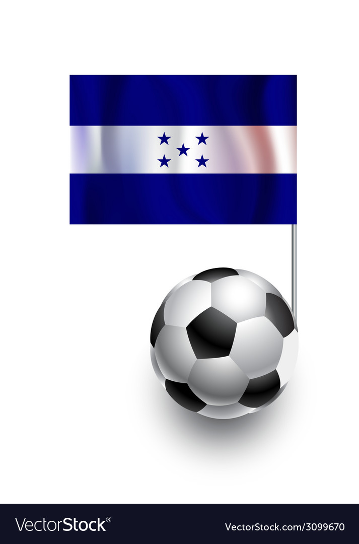 Soccer balls or footballs with flag of honduras vector | Price: 1 Credit (USD $1)