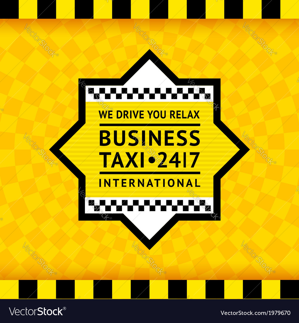 Taxi symbol with checkered background - 13 vector | Price: 1 Credit (USD $1)