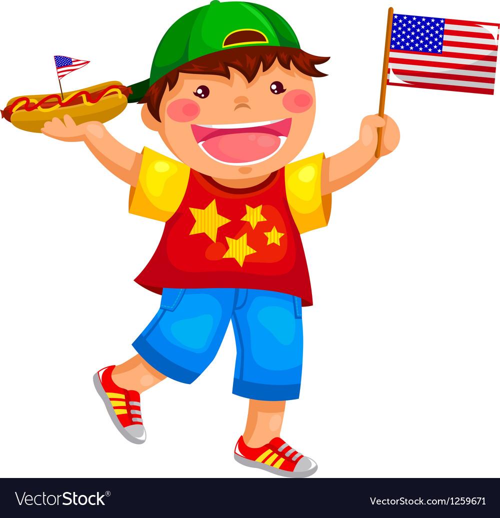 American boy vector | Price: 3 Credit (USD $3)
