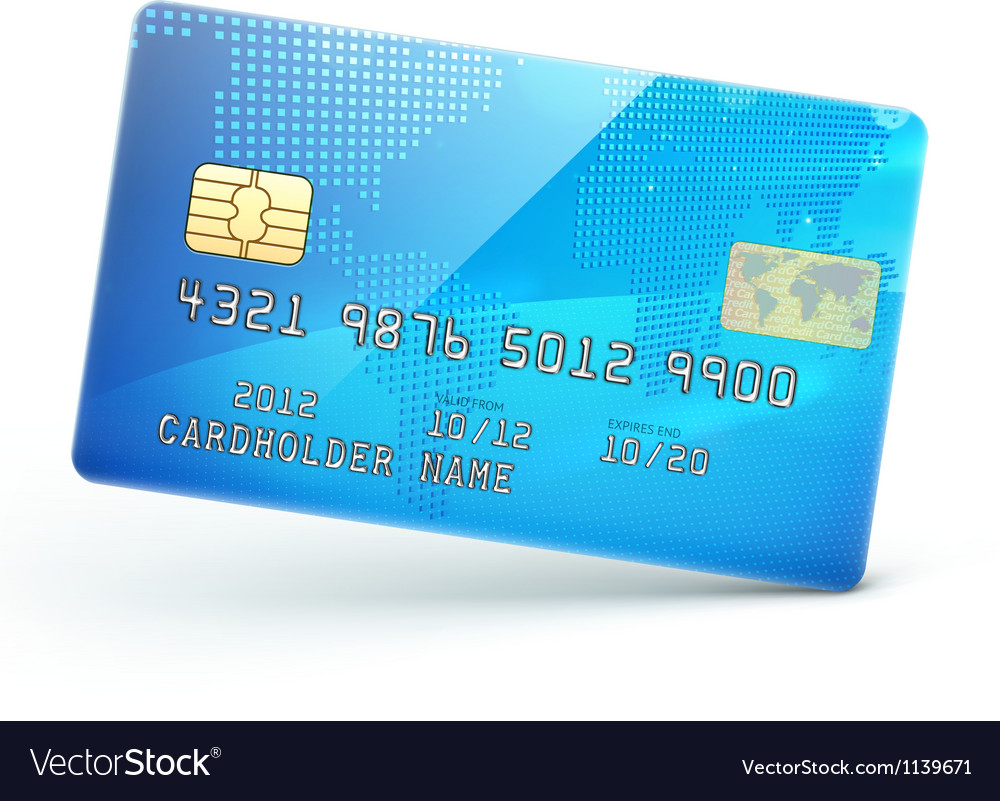 Blue credit card vector | Price: 1 Credit (USD $1)