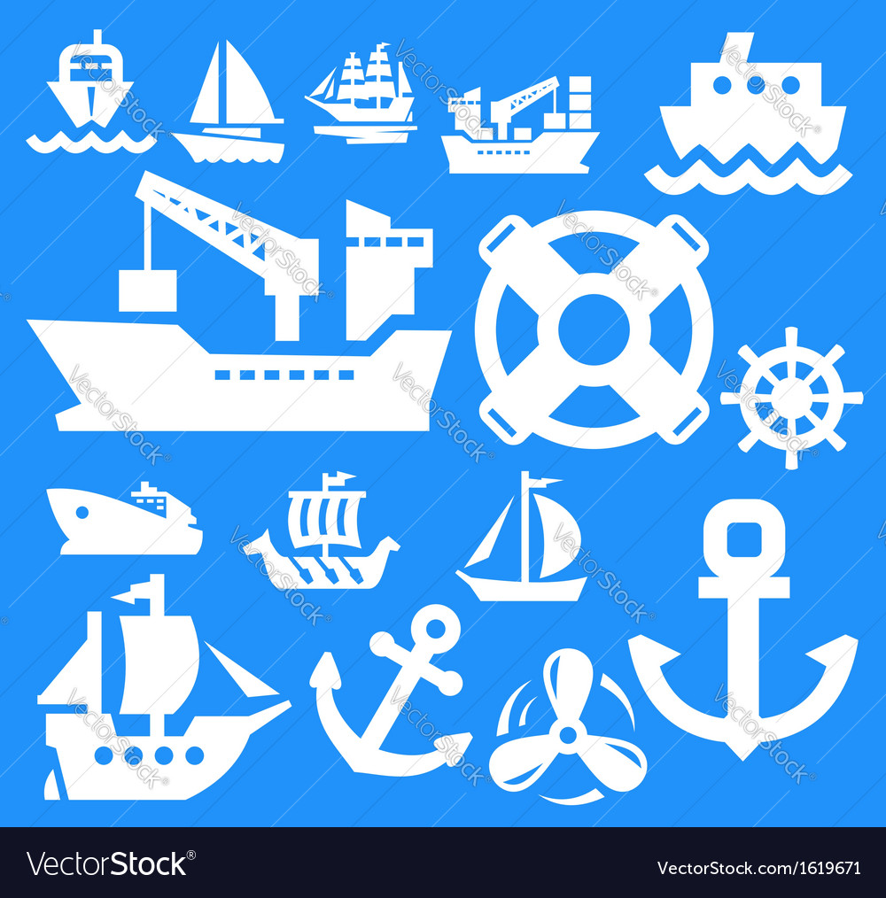 Boat and ship vector | Price: 1 Credit (USD $1)