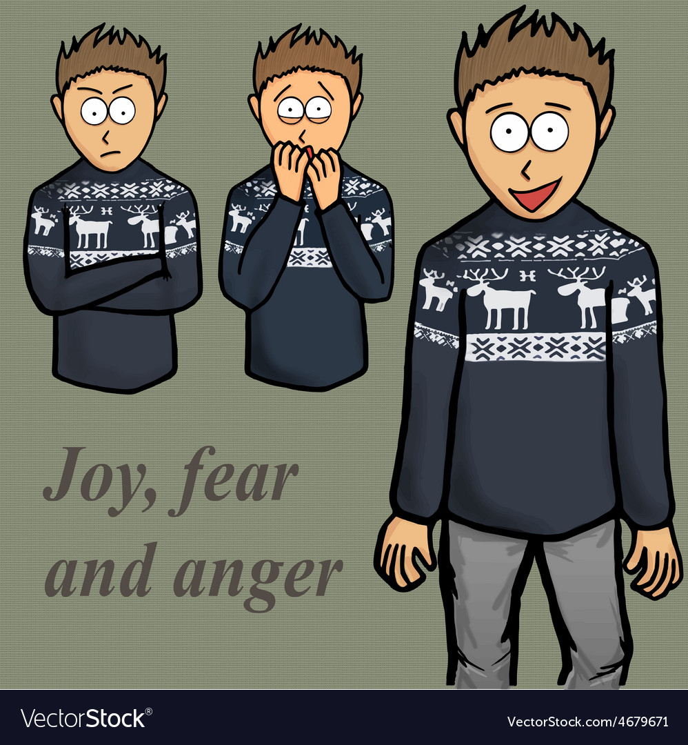 Boy emotion kid laugh people person vector | Price: 1 Credit (USD $1)
