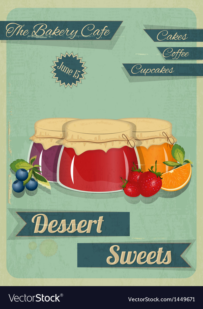 Confectionery retro design vector | Price: 1 Credit (USD $1)