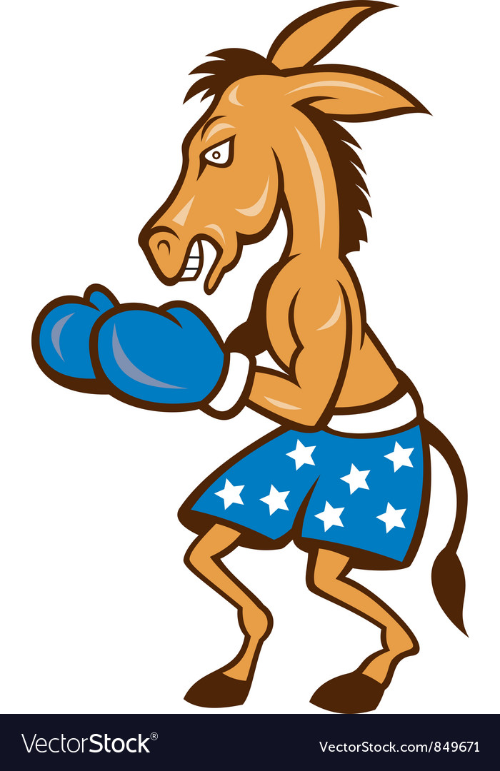 Donkey jackass boxing stance vector | Price: 3 Credit (USD $3)