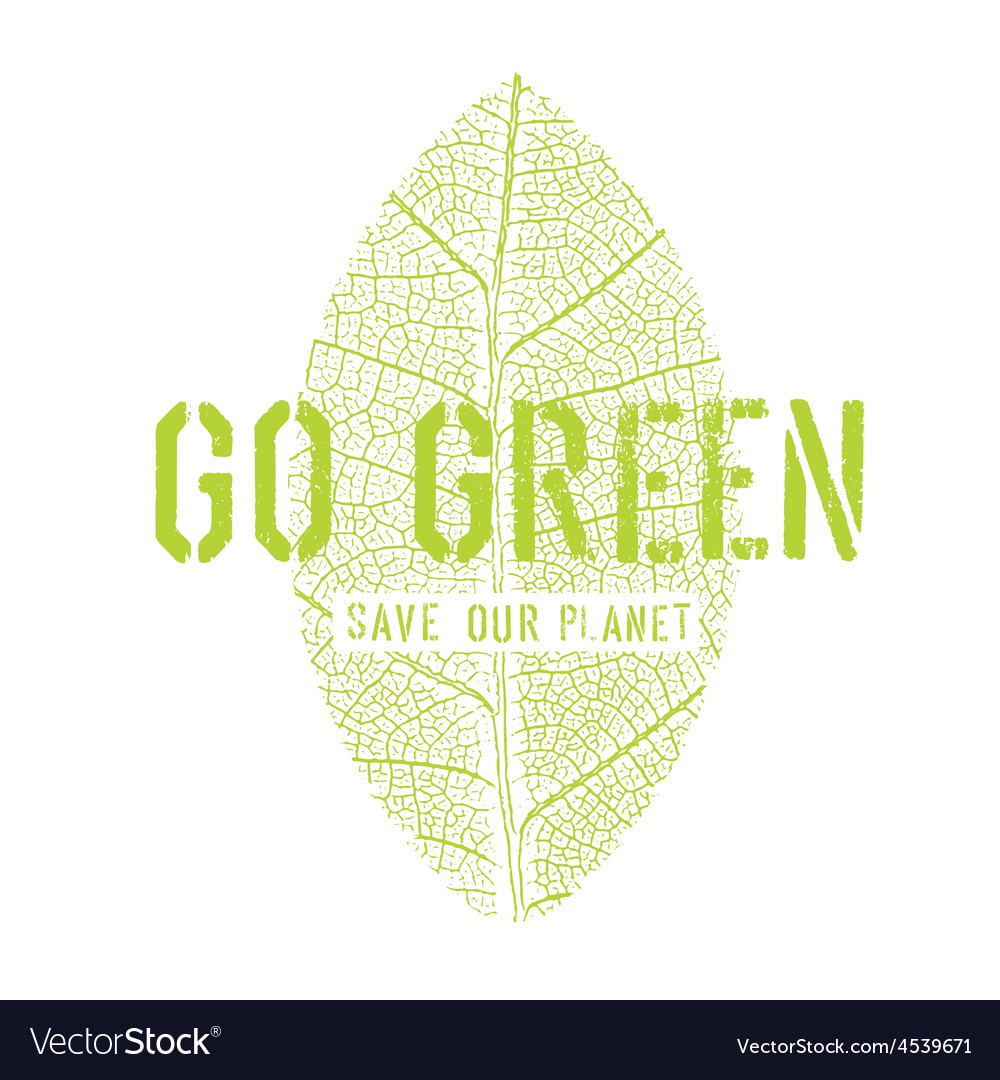 Go green symbol vector | Price: 1 Credit (USD $1)