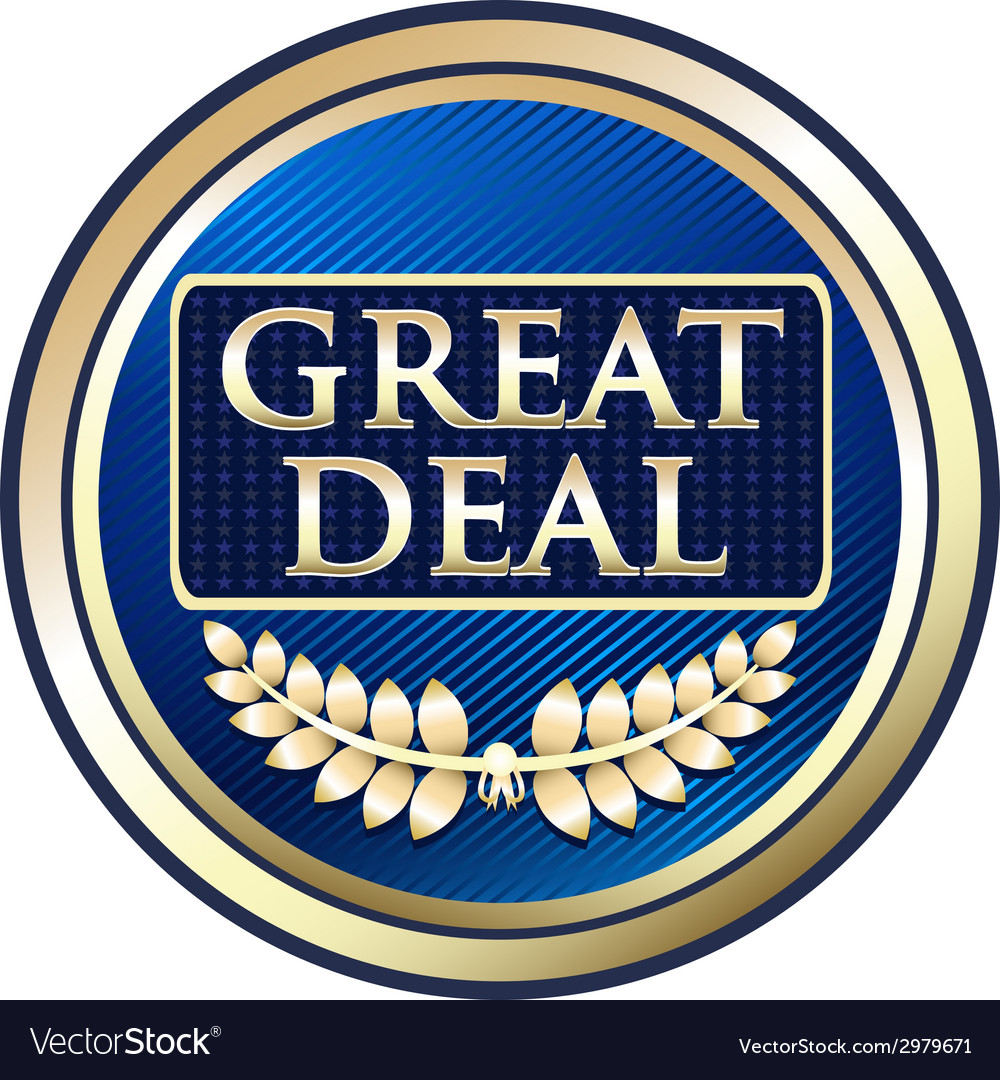 Great deal blue label vector | Price: 1 Credit (USD $1)