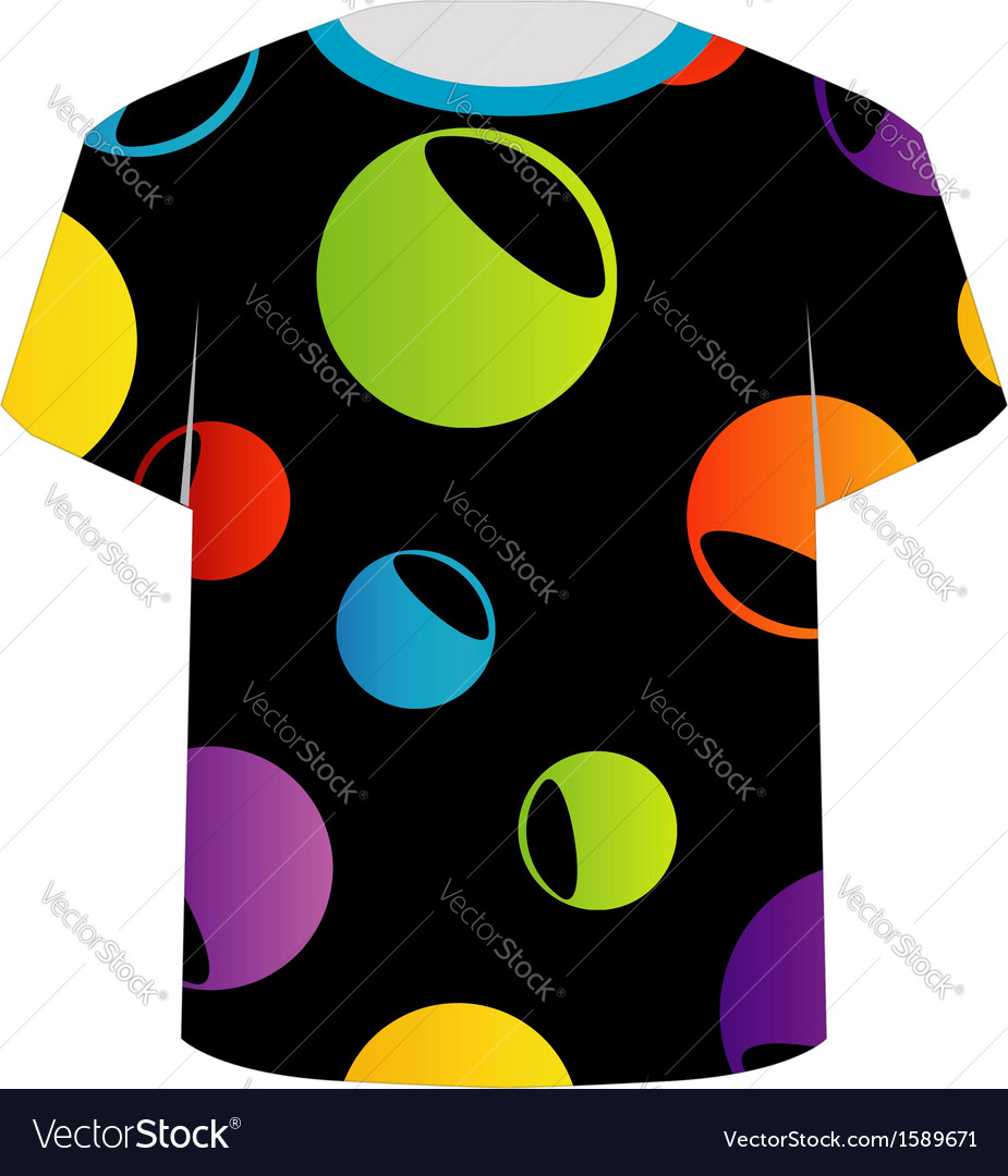 T shirt template- colorful circles vector | Price: 1 Credit (USD $1)