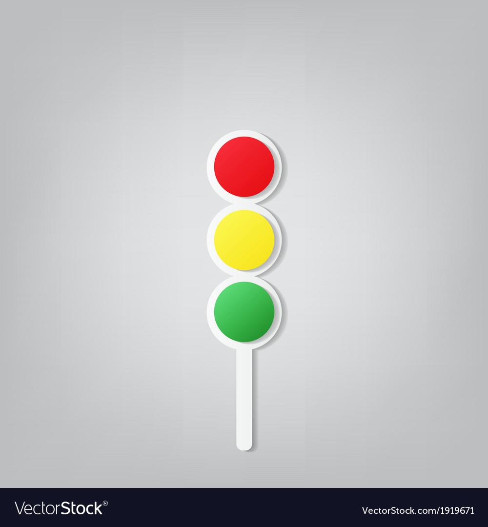 Traffic lights icon vector | Price: 1 Credit (USD $1)