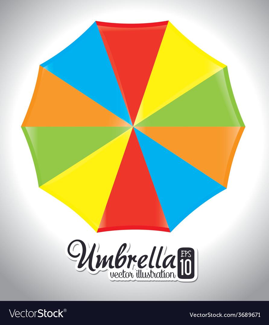 Umbrella design over white background vector   Price: 1 Credit (USD $1)