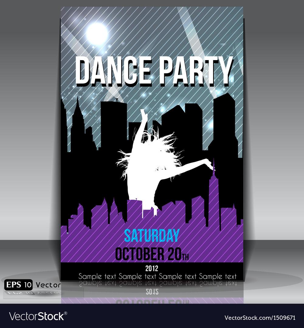 Urban dance party flyer vector | Price: 1 Credit (USD $1)
