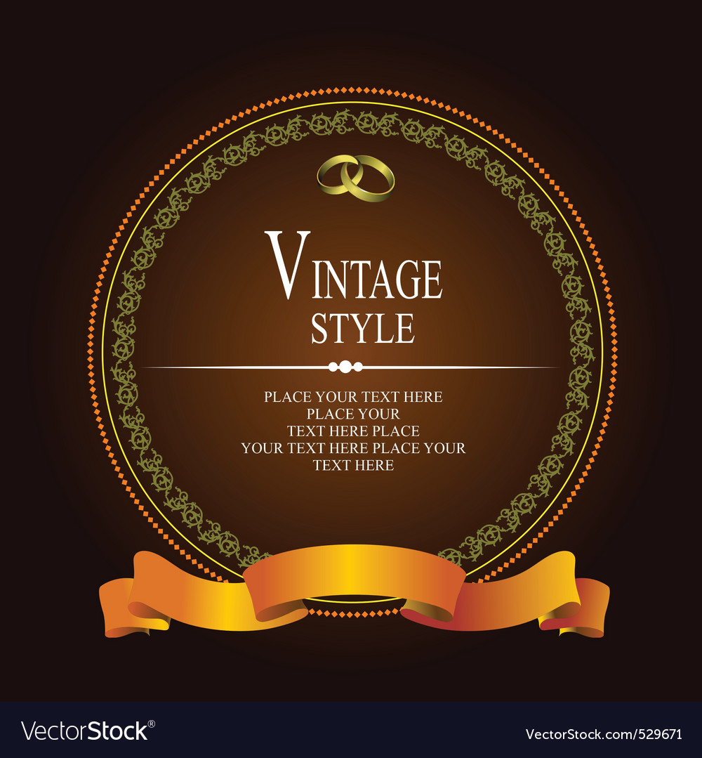 Vintage style vector | Price: 1 Credit (USD $1)