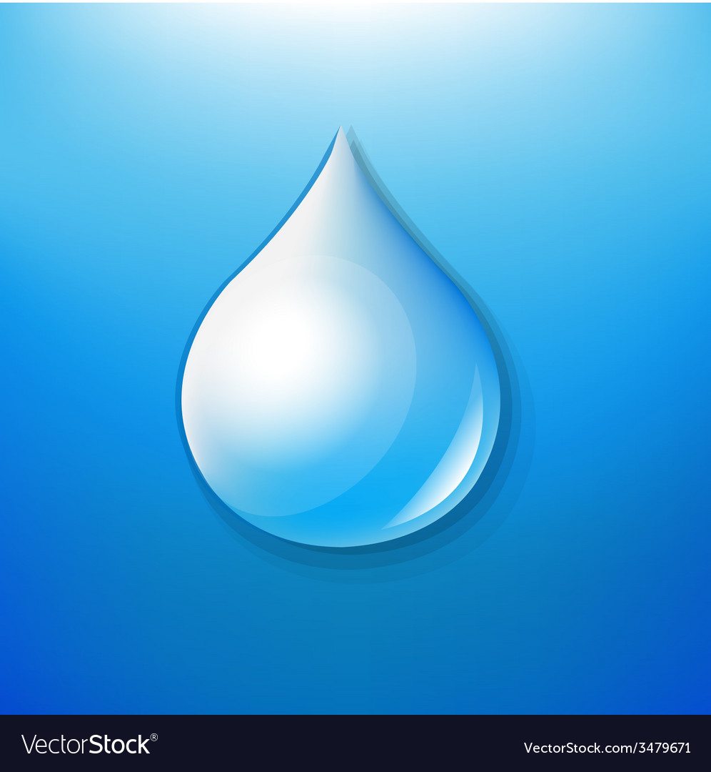Water drop symbol vector | Price: 1 Credit (USD $1)