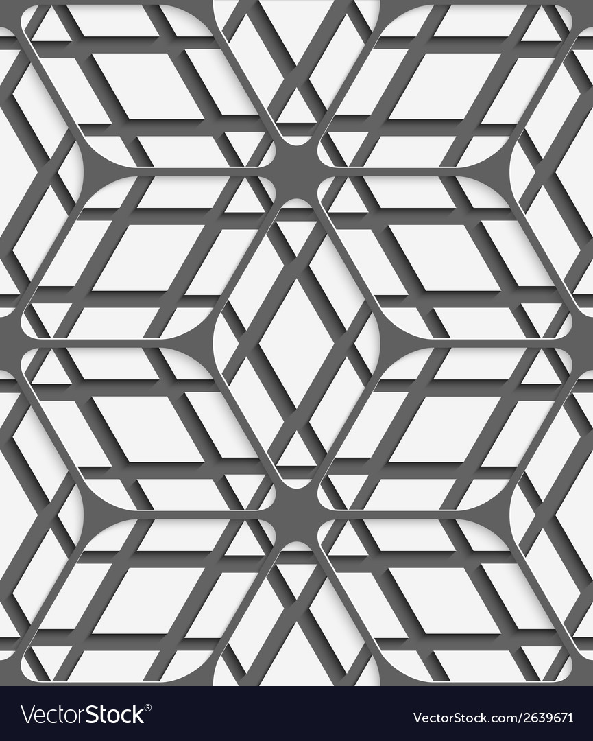 White geometrical detailed with gray net on gray vector | Price: 1 Credit (USD $1)