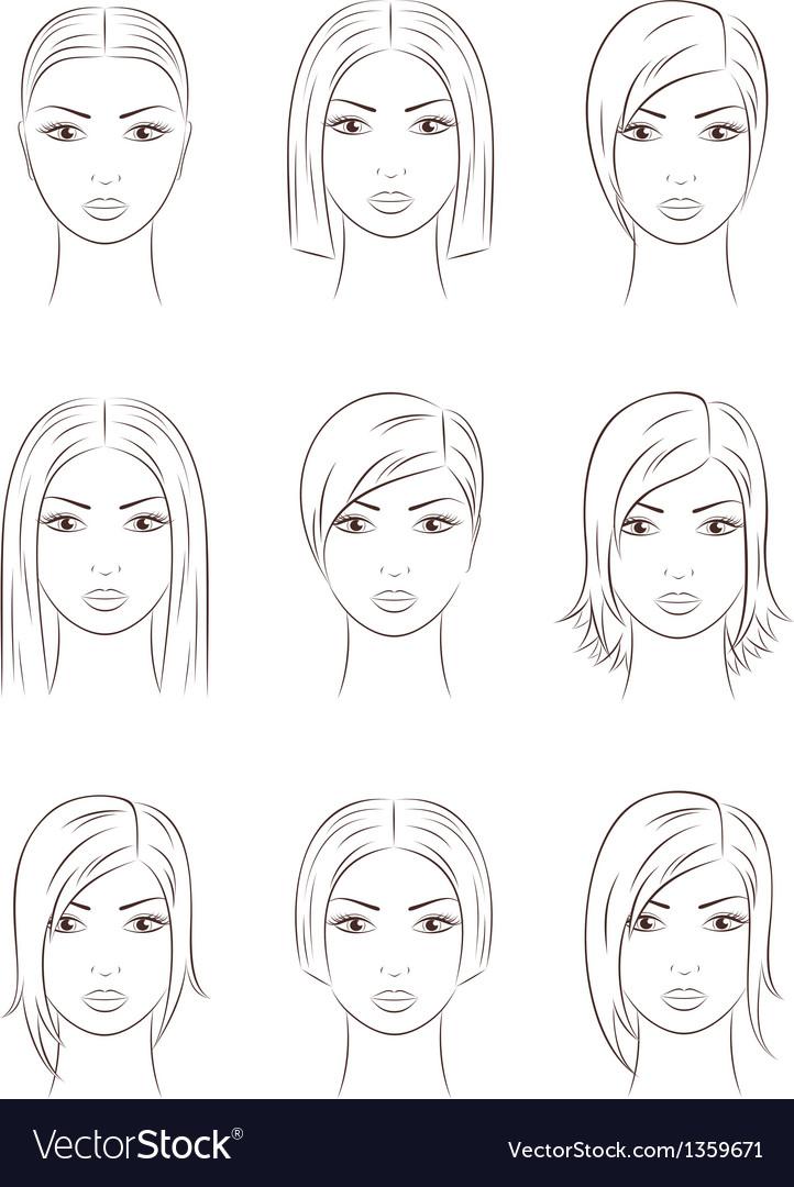 Women faces vector | Price: 1 Credit (USD $1)