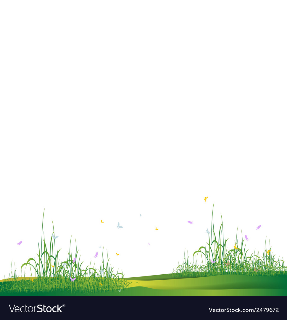 Beauty grass silhouette vector | Price: 1 Credit (USD $1)