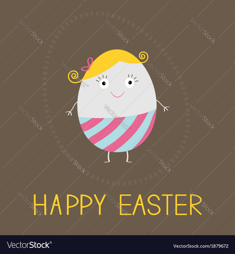 Easter painted egg card vector | Price: 1 Credit (USD $1)