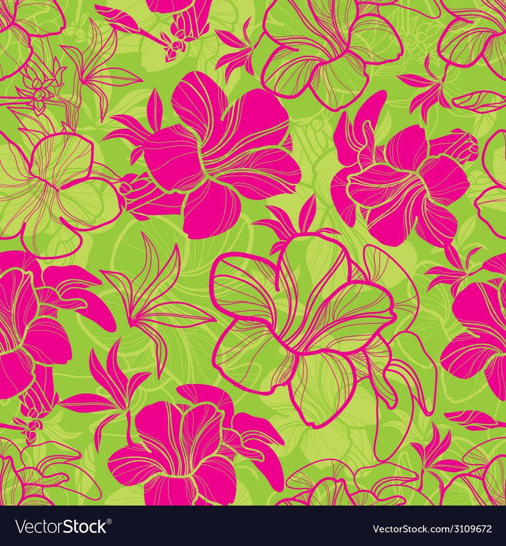 Floral semaless pattern bright 1 vector | Price: 1 Credit (USD $1)