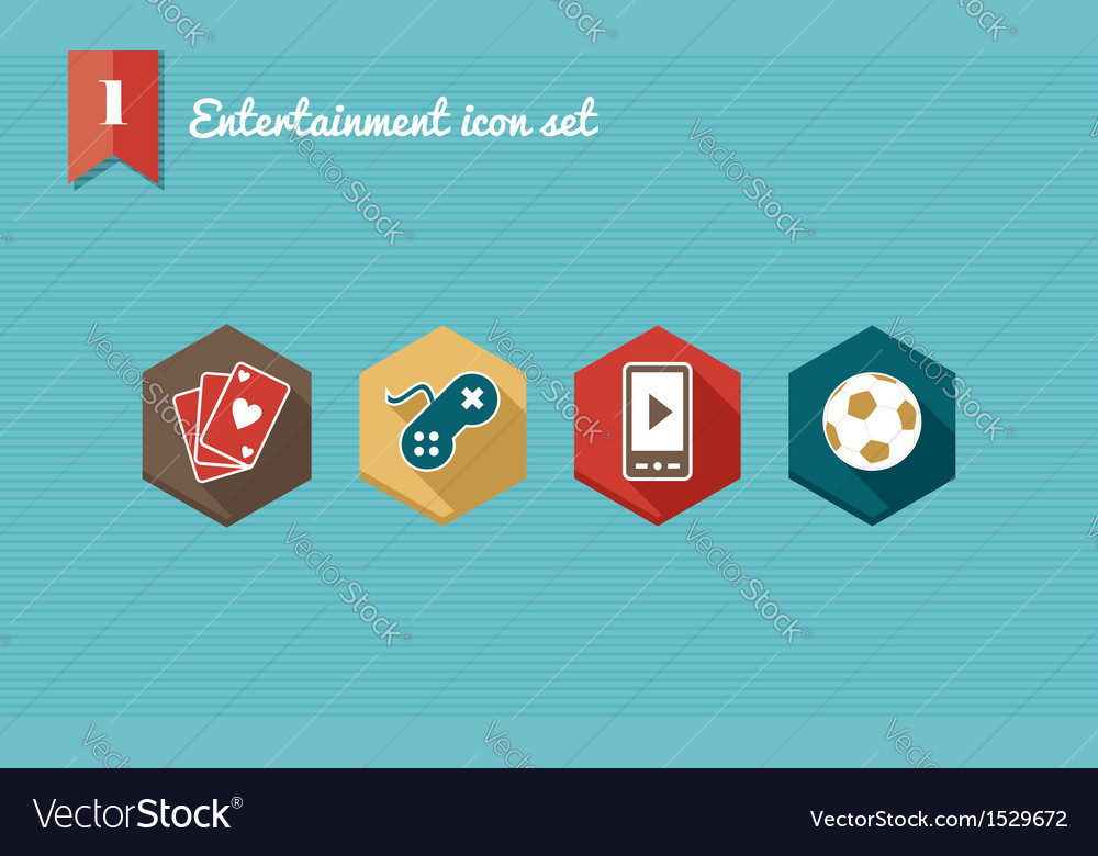 Leisure flat icons set vector | Price: 1 Credit (USD $1)