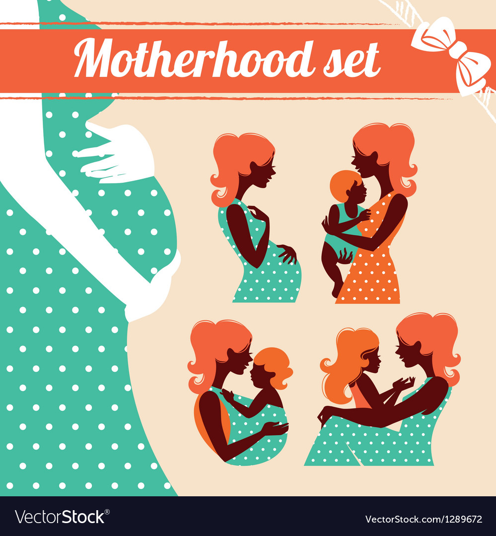 Motherhood set vector | Price: 3 Credit (USD $3)