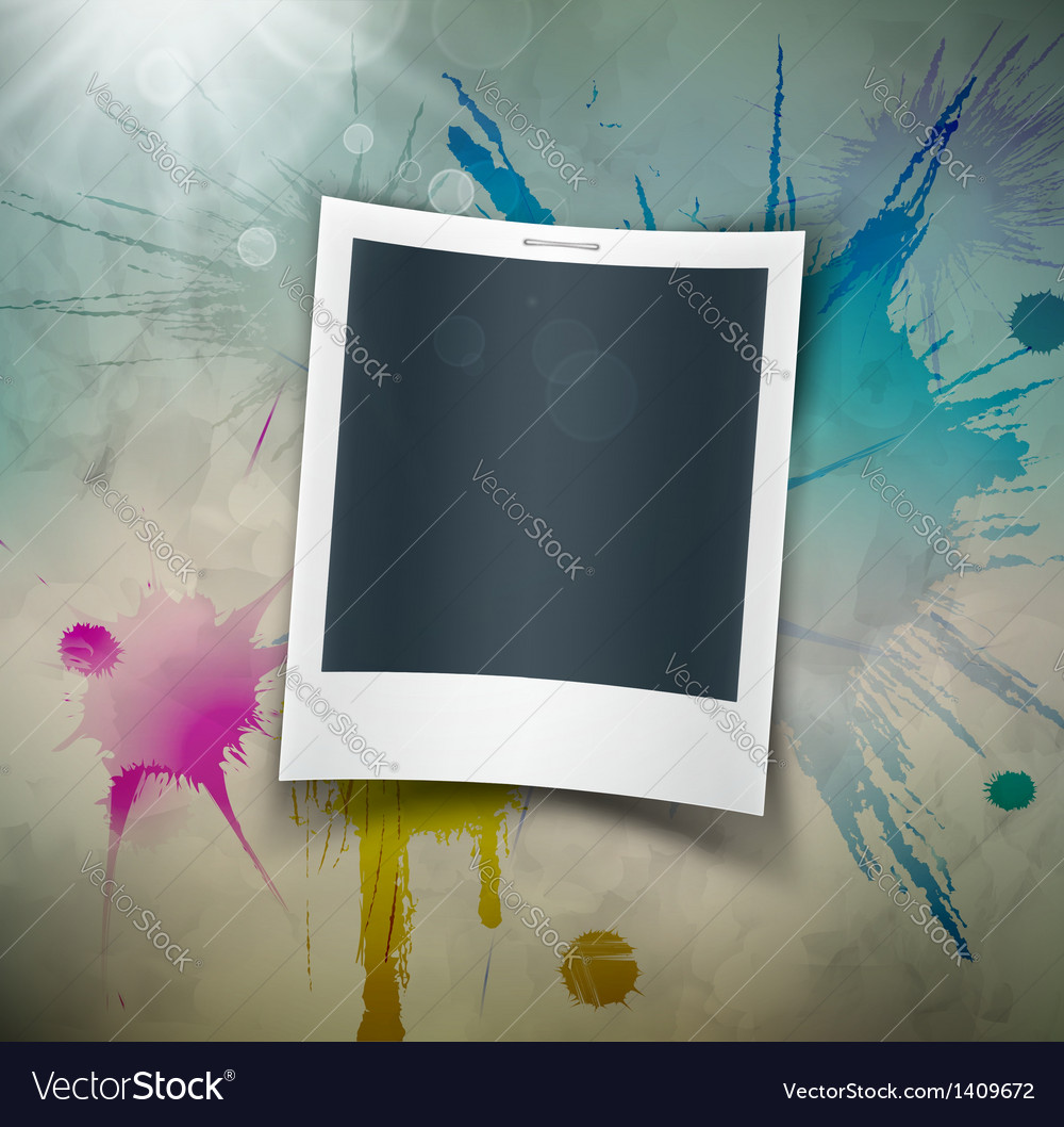 Photo on grunge background vector | Price: 1 Credit (USD $1)