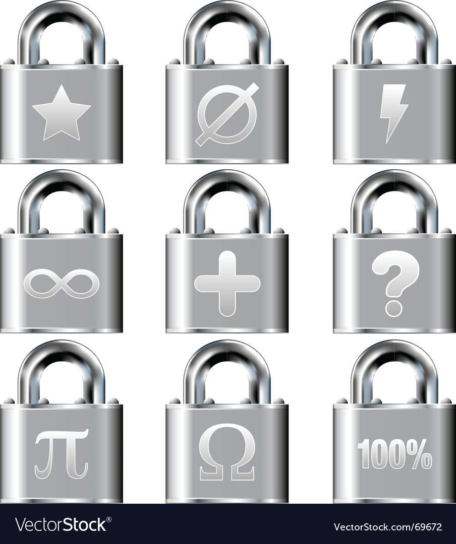 Secure math symbols vector | Price: 1 Credit (USD $1)