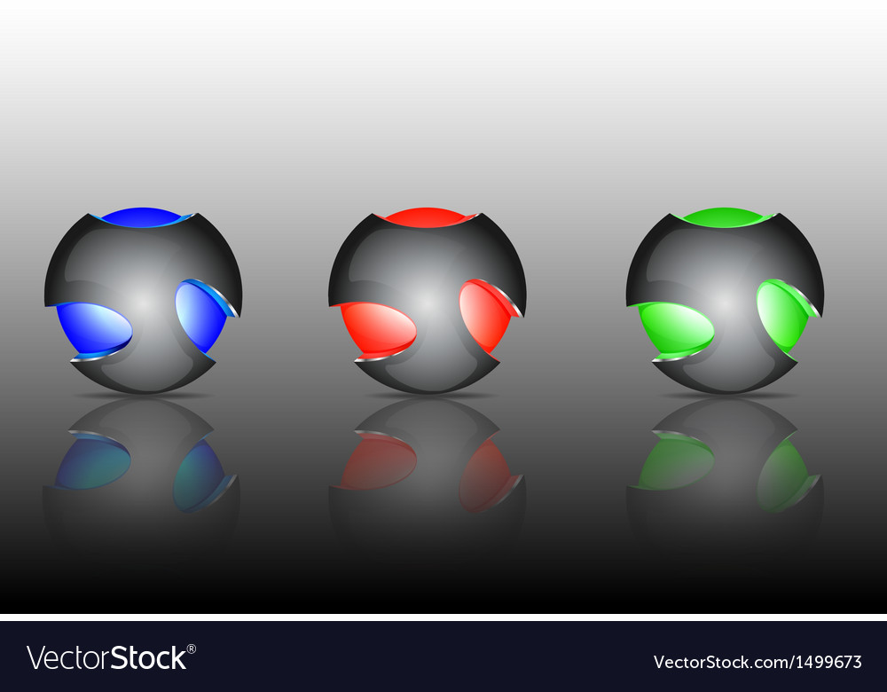 Abstract 3d sphere logos vector | Price: 1 Credit (USD $1)