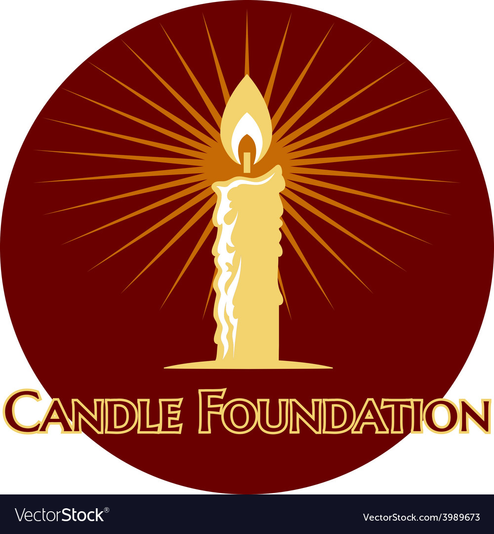 Burning candle logo vector | Price: 1 Credit (USD $1)