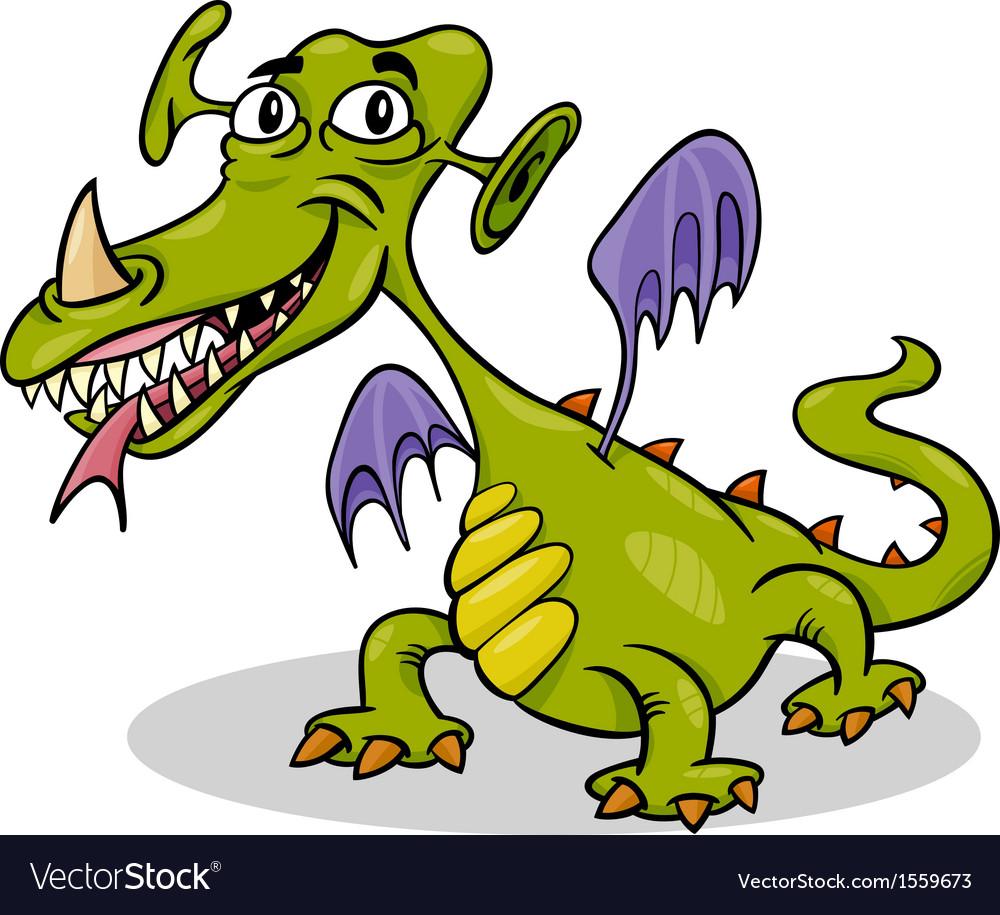 Cartoon funny monster or dragon vector | Price: 1 Credit (USD $1)