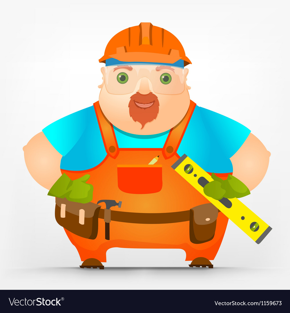 Cheerful chubby men vector | Price: 1 Credit (USD $1)