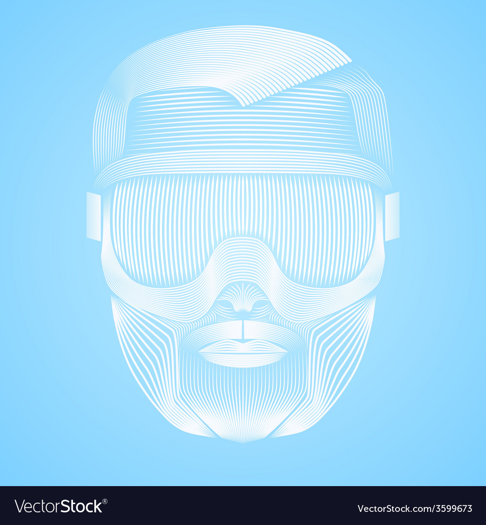 Creative artwork of symbol skier or snowboarder vector | Price: 1 Credit (USD $1)