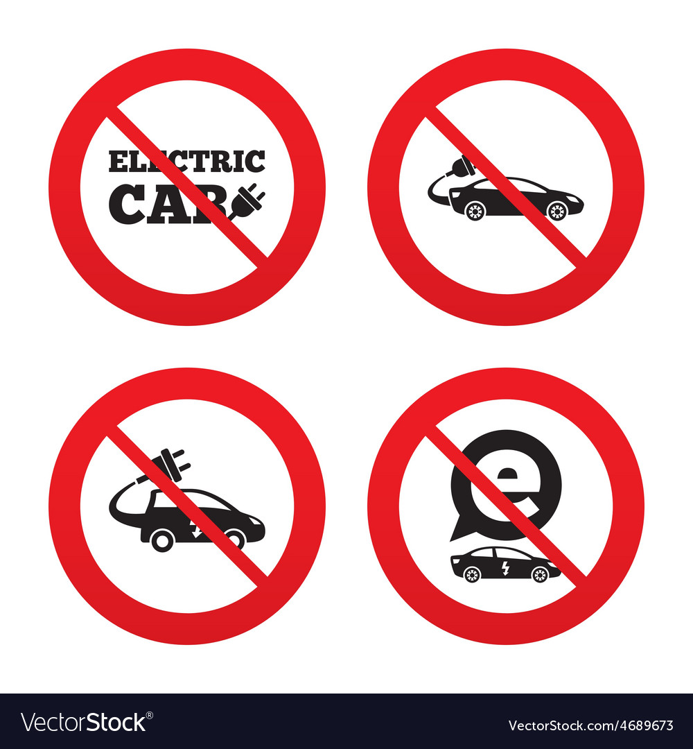 Electric car sign sedan and hatchback transport vector | Price: 1 Credit (USD $1)