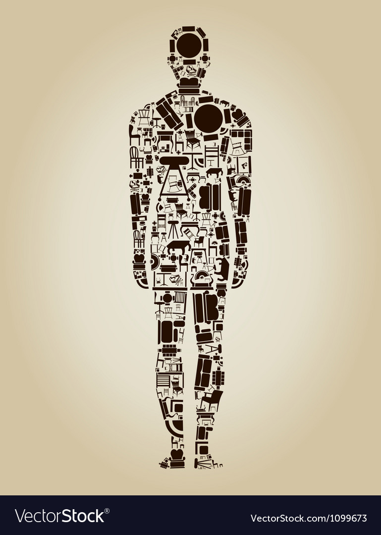 Furniture the person vector | Price: 1 Credit (USD $1)