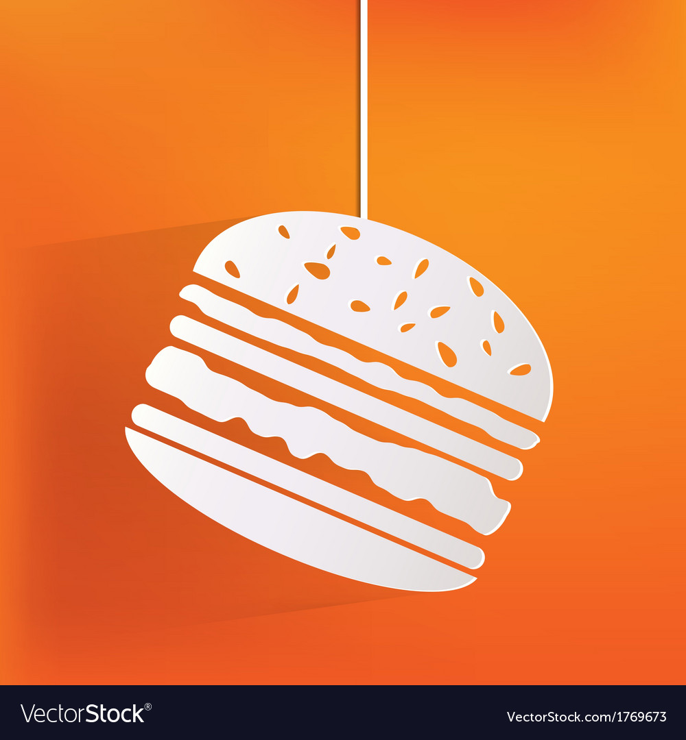 Hambrger web icon vector   Price: 1 Credit (USD $1)