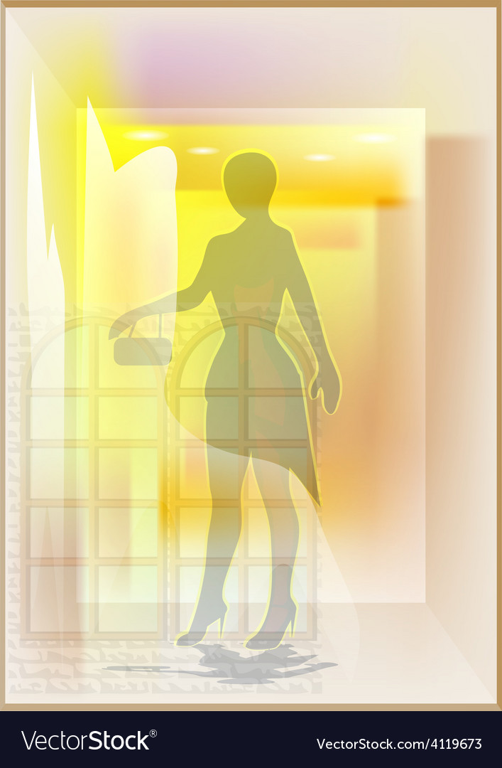 Mannequin in a shop window vector | Price: 1 Credit (USD $1)