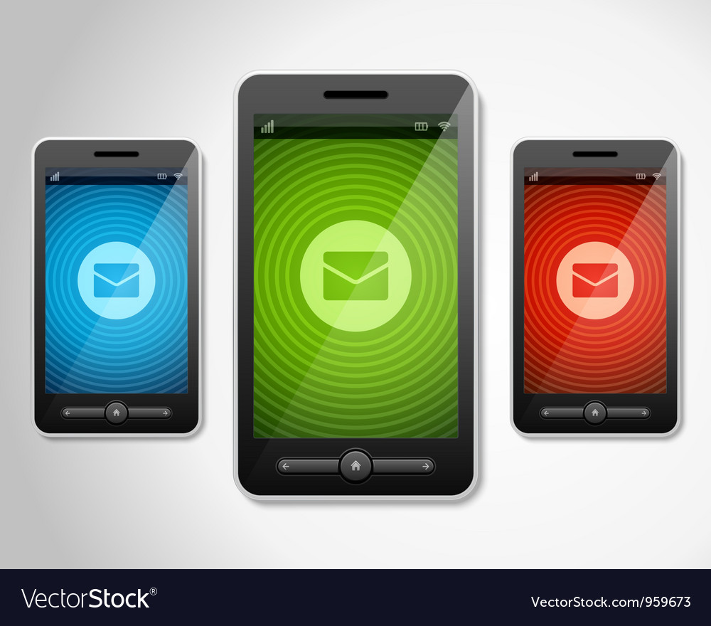 Mobile phone and incoming message icons vector | Price: 1 Credit (USD $1)