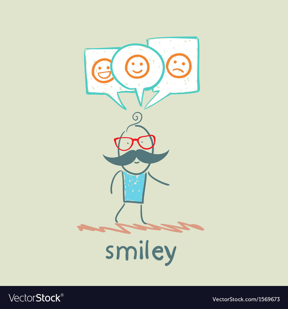 One thinks about smileys vector   Price: 1 Credit (USD $1)
