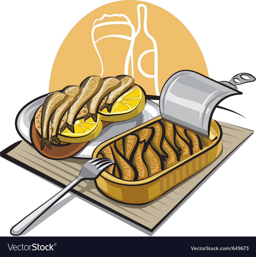 Sprats in oil with sandwich vector | Price: 3 Credit (USD $3)