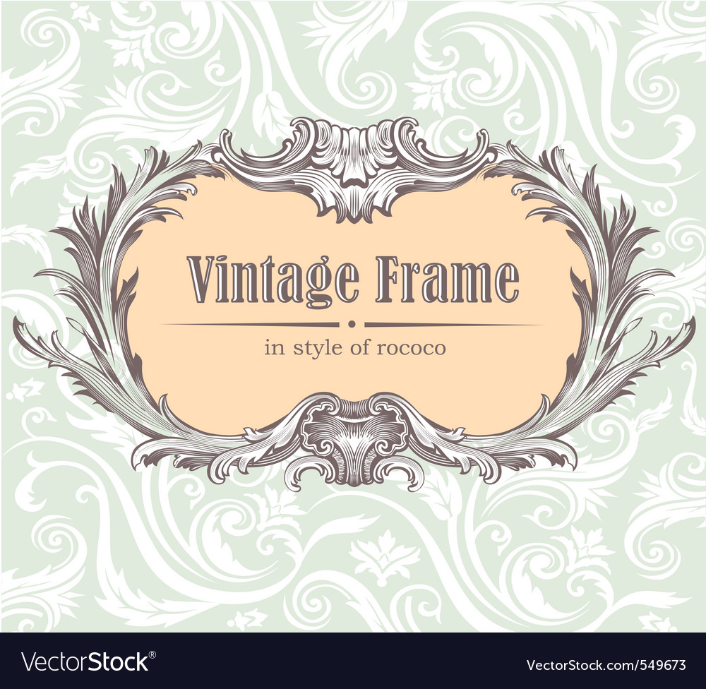 Vintage decorative vector | Price: 1 Credit (USD $1)