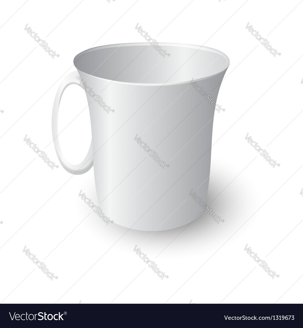 White coffee mug vector | Price: 1 Credit (USD $1)